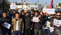 Kerkük'te atama bekleyen üniversite mezunlarından protesto