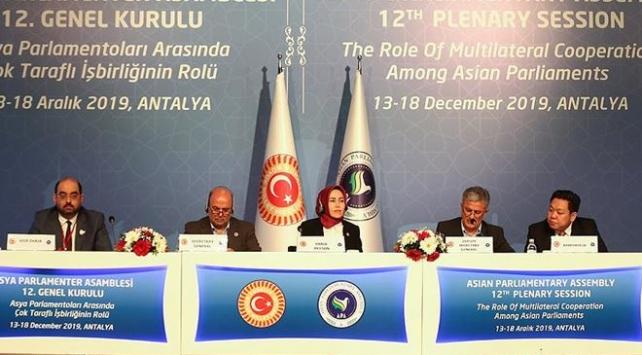 Türkiye 2 yıl daha Asya Parlamenter Asamblesine başkanlık yapacak