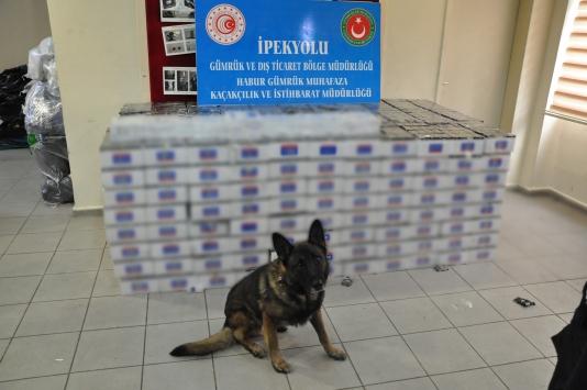 Habur Sınır Kapısında 74 bin paket kaçak sigara ele geçirildi