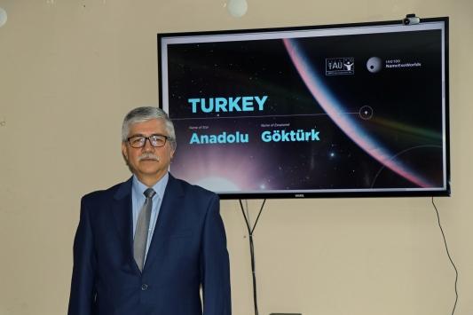 """Türkiyenin yıldızına """"Anadolu"""" ötegezegenine """"Göktürk"""" ismi verildi"""