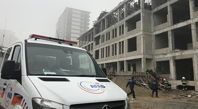 Ankarada okul inşaatında iskele çöktü: 1 ölü, 1 yaralı