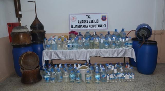 Amasyada 2 bin 572 litre sahte içki ele geçirildi