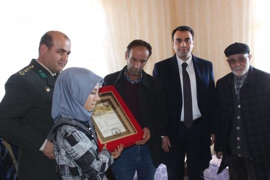 Şehit Fındıkın ailesine şehadet belgesi verildi