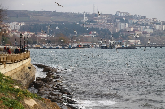İstanbulda deniz ulaşımına lodos engeli