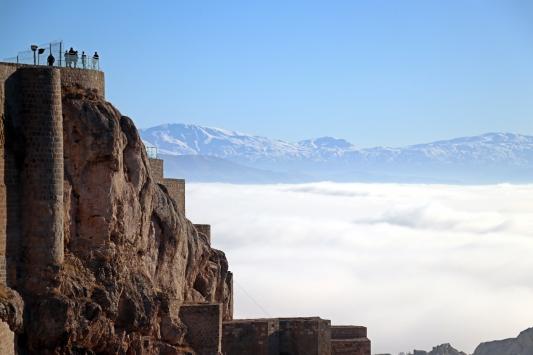 Elazığda sisin oluşturduğu görsel şölene ziyaretçi akını