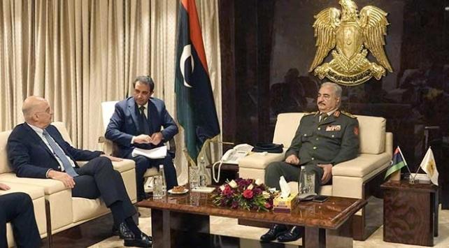 Yunanistan Dışişleri Bakanı Dendias Libyadaki sözde yönetimle görüştü