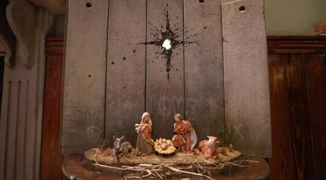 İngiliz sanatçı Banksynin yeni maket çalışması Beytüllahimde sergilendi