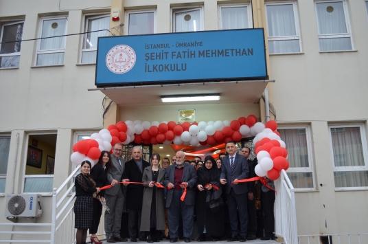 Ümraniyede bir ilkokula Şehit Fatih Mehmethanın ismi verildi