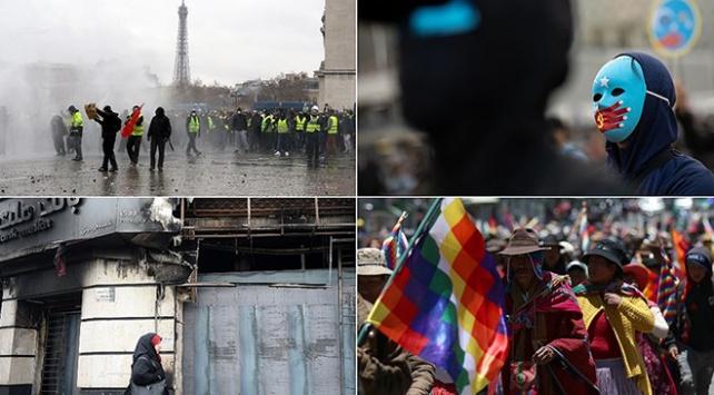 2019 dünyada sokak protestolarının yılı oldu