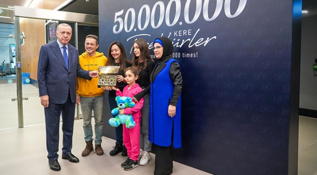 İstanbul Havalimanı 50 milyonuncu yolcusunu ağırladı