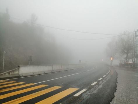 Bolu Dağında sağanak ve sis etkili oluyor
