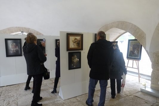 """""""2. Uluslararası Resim ve Pastel Sanatları Sergisi"""" açıldı"""