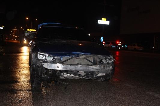 İnegölde otomobilin çarptığı bisikletin sürücüsü yaralandı