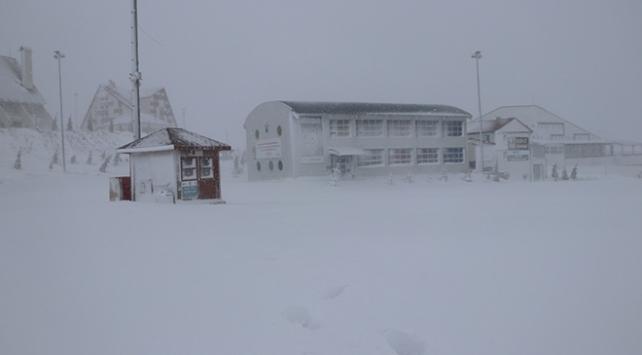 Yıldız Dağı Kış Sporları Turizm Merkezinde kar sevinci