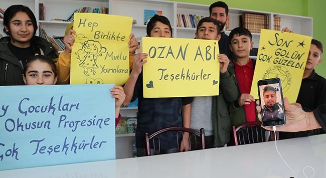 """Ozan Tufandan """"Köy Çocukları Okusun"""" projesine destek"""