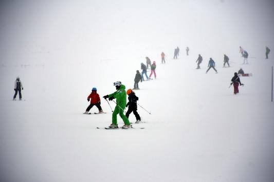 Erciyes Kayak Merkezinde kar kalınlığı 1 metreye ulaştı