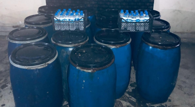 Hatayda 1620 litre sahte içki ele geçirildi