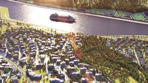 Çevre ve Şehircilik Bakanlığı Kanal İstanbul'u animasyonla anlattı