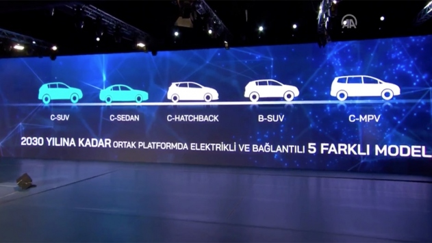 Türkiyenin Otomobilinde 5 farklı model