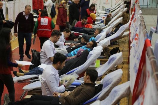 Orduda iki günde bin 600 ünite kan toplandı