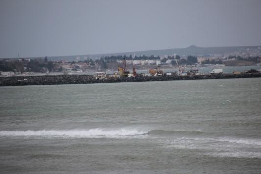 Marmara Denizinde poyraz deniz ulaşımında aksaklıklara neden oluyor