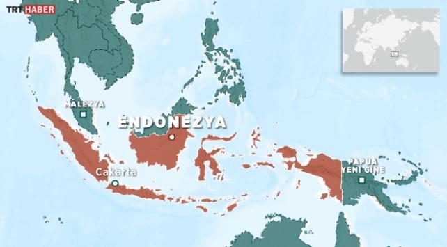 Endonezyada 6,4 büyüklüğünde deprem