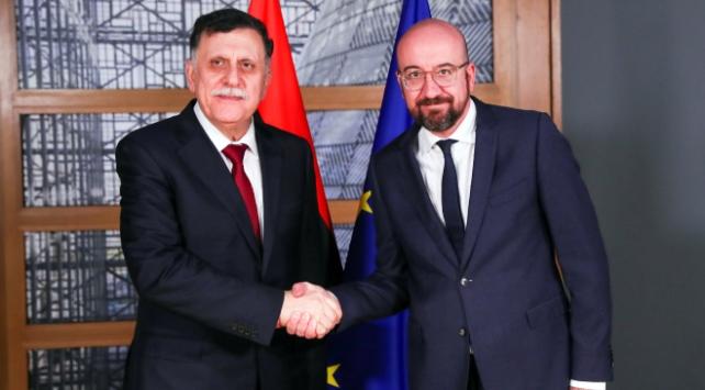 Libya UMH Başkanlık Konseyi Başkanı Serracdan Brükselde diplomasi trafiği
