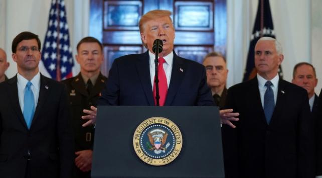 ABD Başkanı Trump: Saldırılardan hiçbir askerimiz zarar görmedi