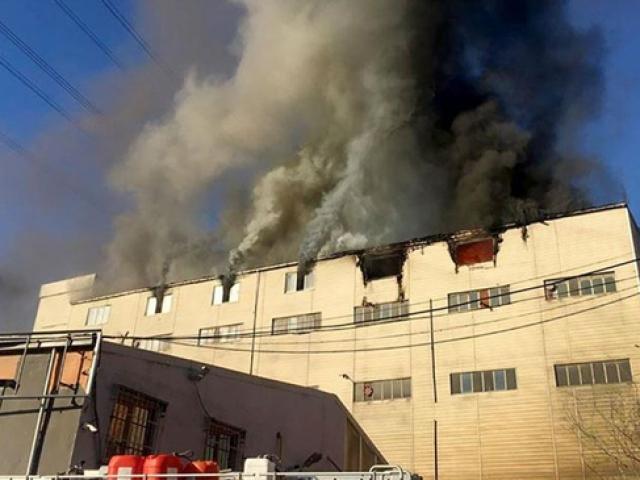 Başakşehirde iş yeri yangını