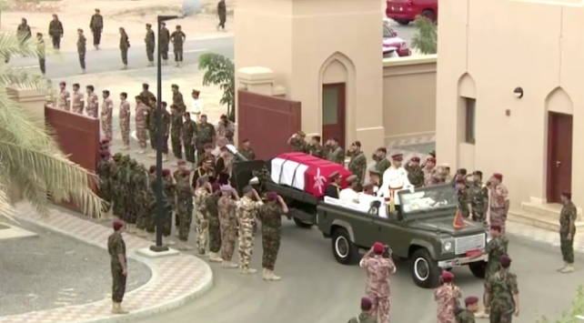 Umman Sultani Kabus bin Said için cenaze töreni düzenlendi
