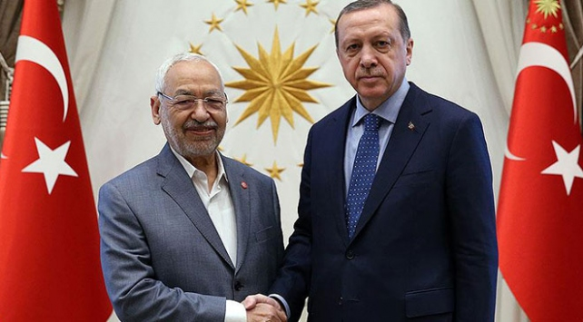 Cumhurbaşkanı Erdoğan, Tunus Meclis Başkanı el-Gannuşiyi kabul etti