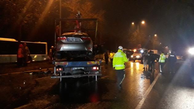 Sarıyerde trafik kazası: 4 yaralı