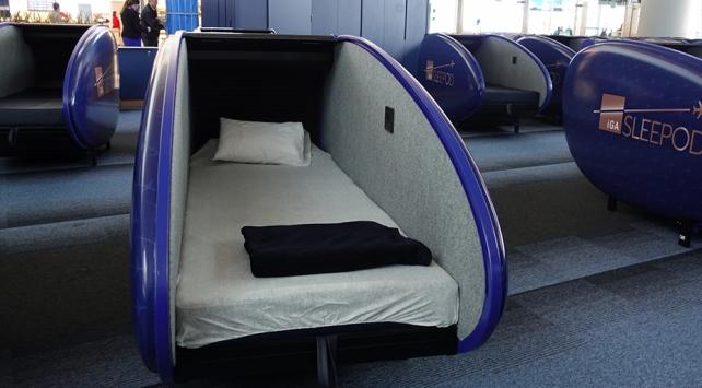 İstanbul Havalimanında uyku kapsülleri hizmete açıldı