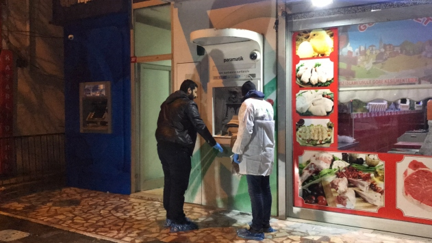 Sultanbeylide üç bankamatik kundaklandı