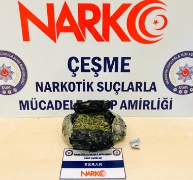 İzmirdeki uyuşturucu operasyonunda 2 kişi tutuklandı