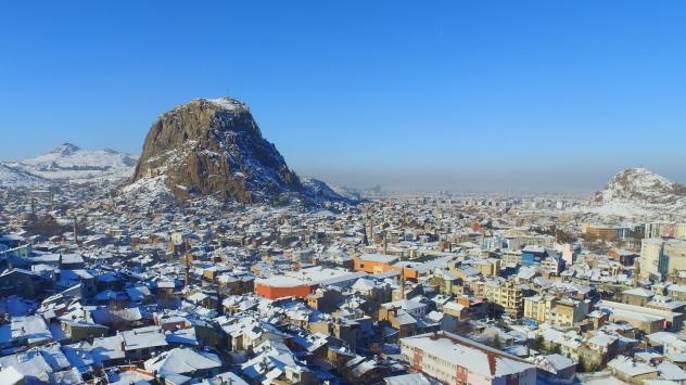 Karahisar Kalesinden kış manzaraları