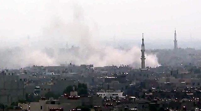 Şamın Banliyöleri Bombalanıyor