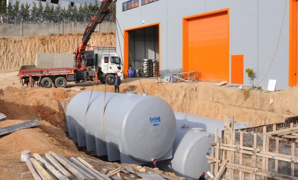 Karmoddan yağmur suyu hasadına özel depolama tankı