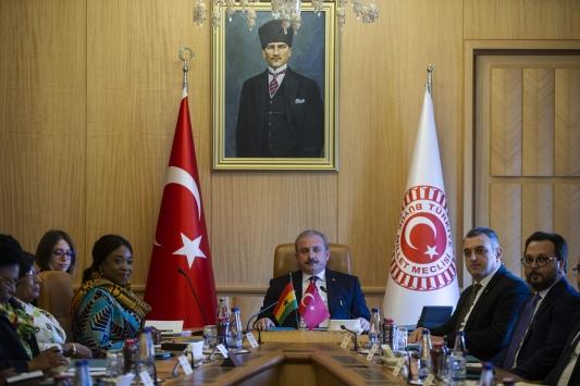 TBMM Başkanı Şentop, Ganalı Bakan Botchweyi kabul etti