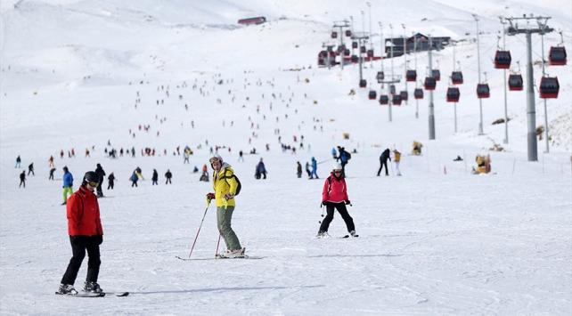 Erciyeste hafta sonu yoğunluğu: 90 bin ziyaretçiyi ağırlandı