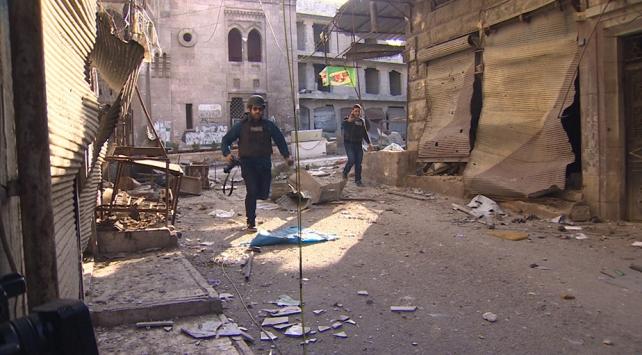 TRT Haber ekibi İdlibde büyük tehlike atlattı
