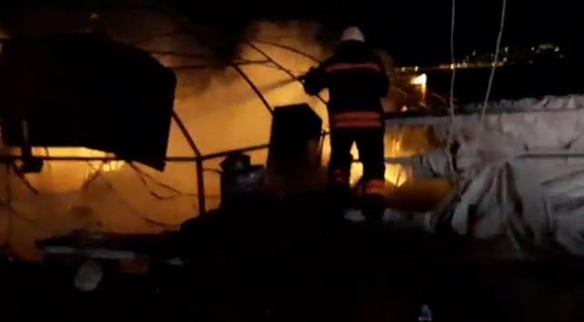 Söğütlü Limanında yangın