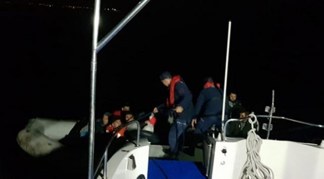 Didim açıklarında 111 düzensiz göçmen yakalandı