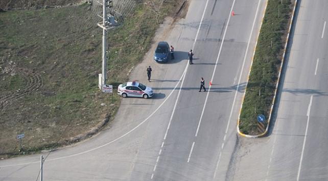 Balıkesirde helikopter destekli trafik denetimi