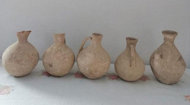 Boluda Roma dönemine ait 5 toprak küp ele geçirildi