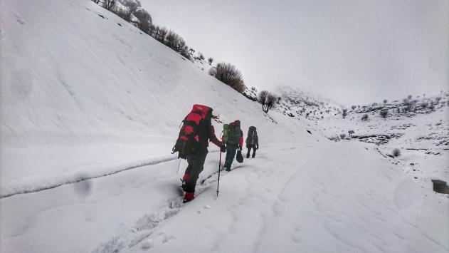 Dağcılar Nemrut Dağına zorlu tırmanış gerçekleştirdi