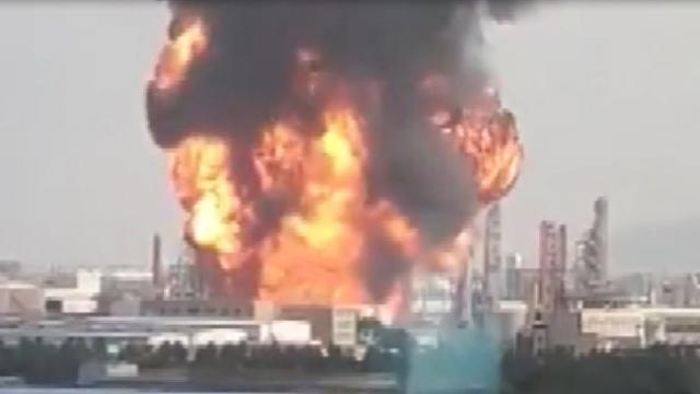 Çin'de korkutan fabrika yangını