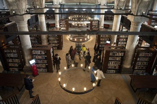 Kayseride Meryem Ana Kilisesi binasında oluşturulan kütüphane yarın açılıyor