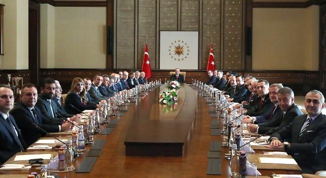 Cumhurbaşkanı Erdoğan Kulüpler Birliğini kabul etti