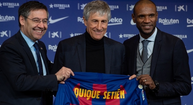 Barcelonanın yeni teknik direktörü basının karşısına çıktı